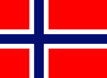 Official flag of Norway country Banco de Imagens - 48403139