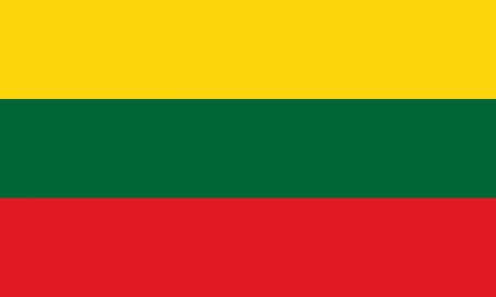 lithuania: Official flag of Lithuania country Stock Photo
