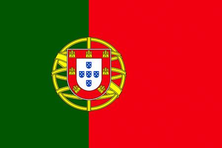 Bandera oficial del país de Portugal Foto de archivo - 48403295