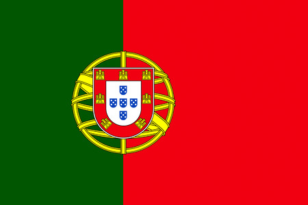 Official flag of Portugal country Standard-Bild