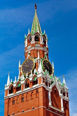 spasskaya: Spasskaya tower on Red square in Moscow, Russia