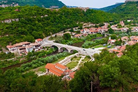 veliko: Veliko Tarnovo cityscape in Bulgaria. View from old city Stock Photo