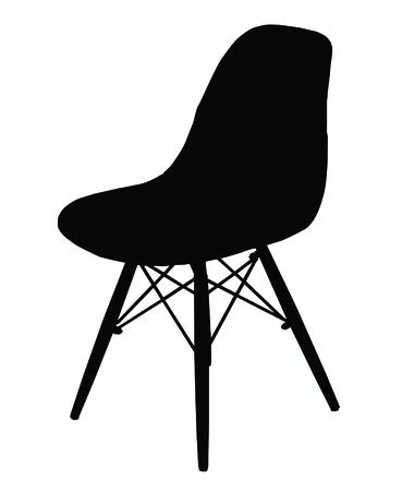 Sihouette de la silla moderna aislado en blanco