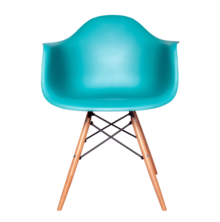 modern chair: Modern chair stool of blue color isolated on white background