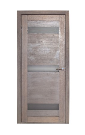 room door: Modern brown room door isolated on white background