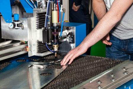 Laser-Schneidemaschine, Metallverarbeitung Nahaufnahme