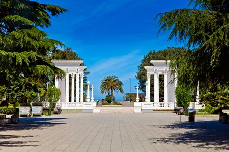 seafront: Seafront promenade in Batumi city center, Georgia