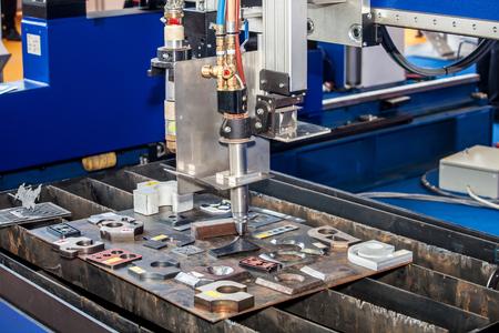 processing speed: Metal milling machine close up process Stock Photo