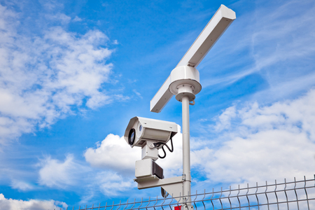 detect: Radar surveillance system. Radar is used as the primary tool for scanning area and detect potential threats and optical sensor is only used to further assess the situation.