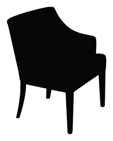 modern chair: Silhouette of the modern chair, vector icon illustration of chair