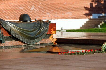 eternal: Eternal flame in Alexanders garden in Moscow, Russia Stock Photo