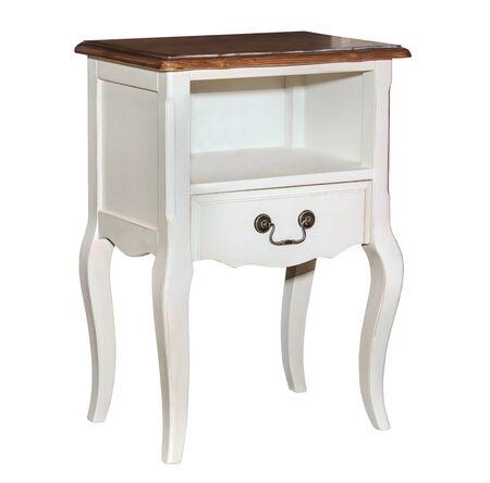 arredamento classico: White retro chest of drawers isolated on white background Archivio Fotografico