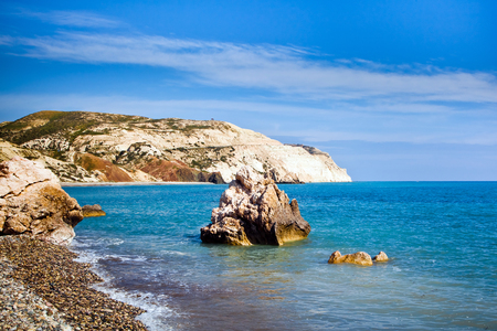 birthplace: Aphrodites legendary birthplace in Paphos, Cyprus Stock Photo