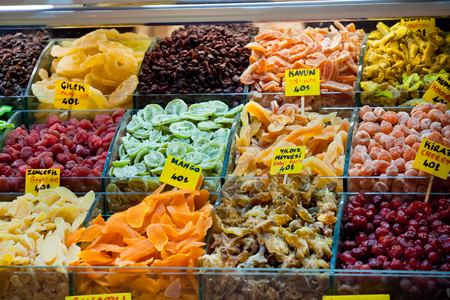 Famous turkish sweets in Istanbul grand bazaar