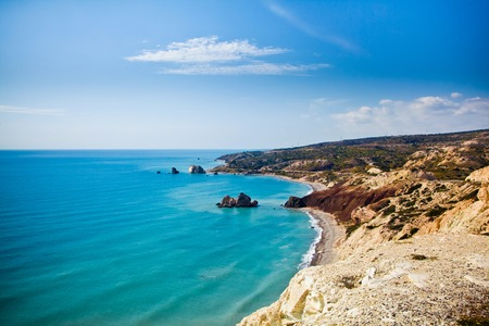 Aphrodites legendary birthplace in Paphos, Cyprus Stock Photo