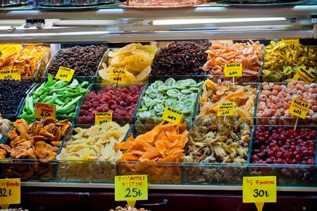 gelatina: dulces turcos famosos de Gran Bazar de Estambul Foto de archivo