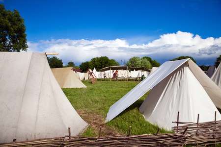 ancient times: Reconstruction of the ancient times , the tent camp