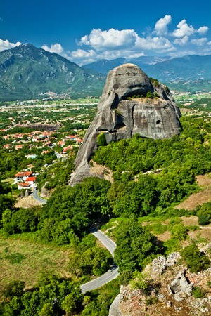 Meteora Rock Formations. One of the largest complexes of monasteries in Greece Stock Photo
