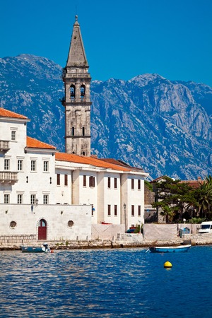 Panorama view of Perast city in Montenegro