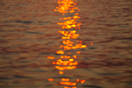 sun track: Sun track in water reflection on the sunset