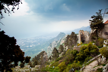Ruins of Saint Hilarion Castle in Cyprus