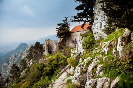 st hilarion: Ruins of Saint Hilarion Castle in Cyprus