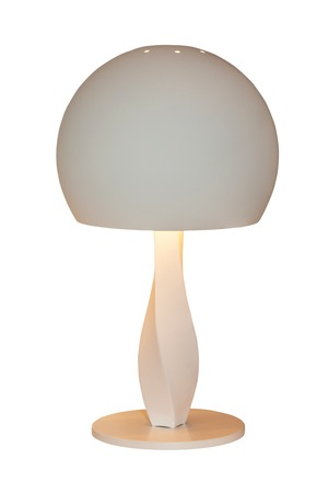 bedside: Modern table lamp isolated on white background. Bedside night lamp Stock Photo