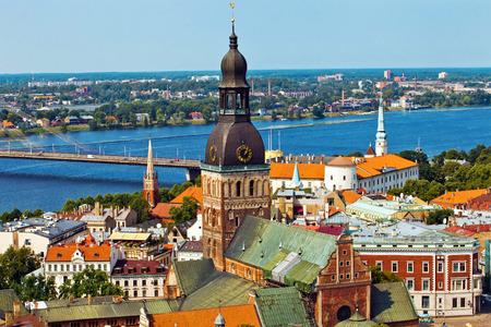 Riga Panorama city view Stock Photo