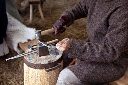 Blacksmith working process
