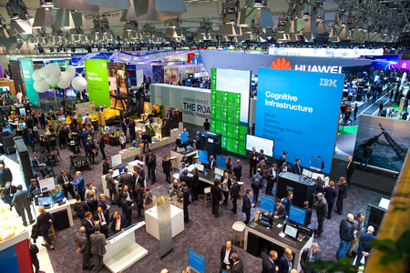 Visitors on exhibition Cebit 2017 in Hannover Messe, Germany