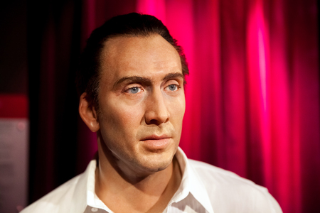 Amsterdam, Netherlands - March, 2017: Wax figure of Nicolas Cage in Madame Tussauds Wax museum in Amsterdam, Netherlands