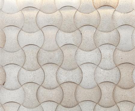 3d achtergrond van de vorm witte stenen van de mozaïek Stockfoto