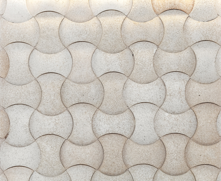 3d mosaic form white stones background