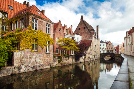 Architecture of Bruges city
