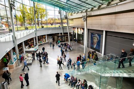 Vincent Van Gogh Museum interior in Amsterdam, Netherlands