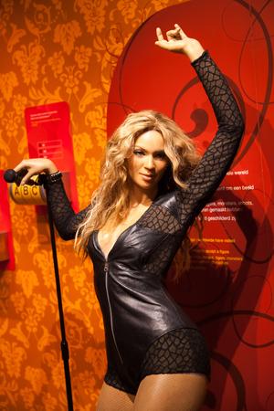 Amsterdam, Netherlands - March, 2017: Wax figure of Madonna singer in Madame Tussauds Wax museum in Amsterdam, Netherlands Editorial