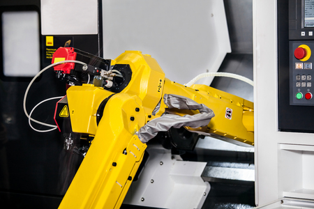 Fully automated CNC machining Banco de Imagens - 79039406