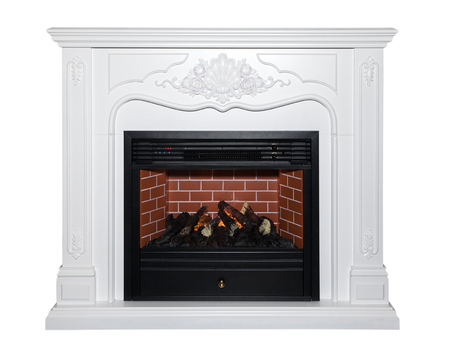 White classic fireplace