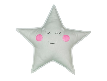 Cute textile star pillow with eyes