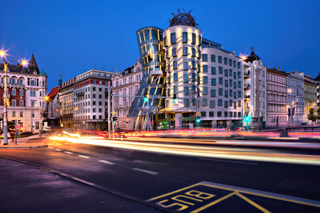 Dancing House or Fred and Ginger building in Prague, Czech Republic