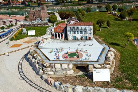 Park of miniatures in Rimini, Italy Editorial
