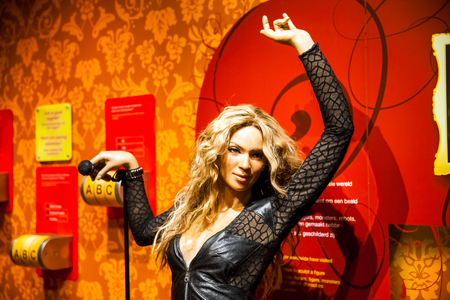 Wax figure of Madonna singer in Madame Tussauds Wax museum in Amsterdam, Netherlands