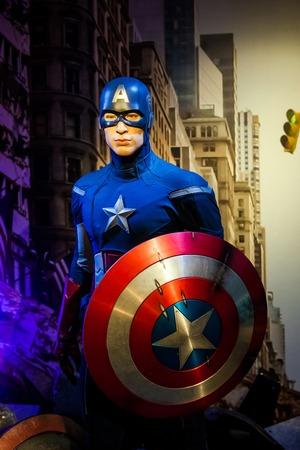 Wachsfigur von Chris Evans als Captain America im Madame Tussauds Wax Museum in Amsterdam, Niederlande Amsterdam