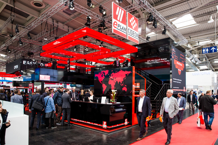 Eplan Cideon booth stand on Messe fair in Hannover, Germany Editöryel