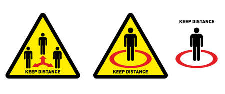 Social distancing icon. Keep Your Distance Keep t. Avoid crowds. Coronovirus epidemic protective. Vector illustration