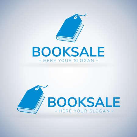 Book Sale Store label Logo Template Design Vector