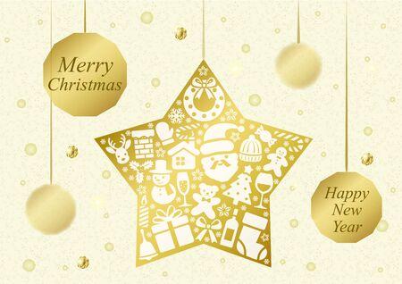 A forma di stella di Natale ornamenti