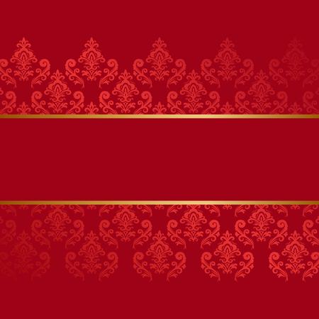 Red damask vintage pattern  backdrop.
