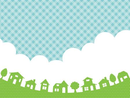 타운 풍경과 하늘 배경 스톡 콘텐츠 - 74939911