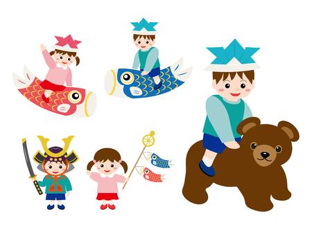 Childs day illustration set.